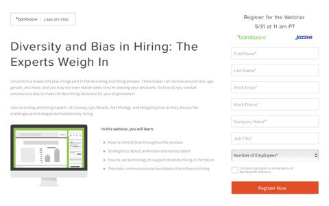 Diversity and Bias in Hiring: The Experts Weigh In
