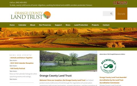 Screenshot of Home Page oclt.org - Orange County Land Trust - - captured Oct. 7, 2014