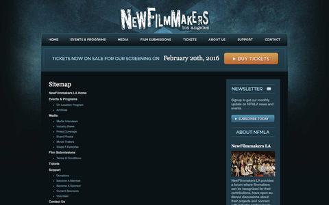Screenshot of Site Map Page newfilmmakersla.com - sitemap | LA Film Festival NewFilmmakers Los Angeles - captured Feb. 18, 2016