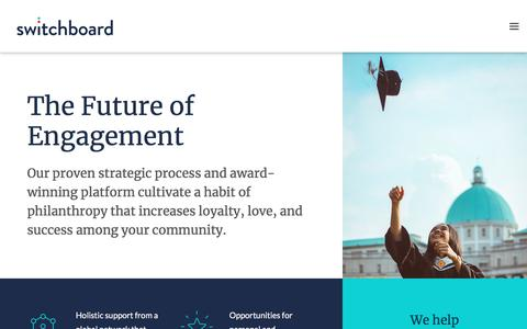 Screenshot of Home Page switchboardhq.com - Switchboard: Alumni Engagement Platform - captured Nov. 17, 2017
