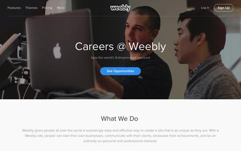 Screenshot of Jobs Page weebly.com - Weebly Careers - Careers - captured Dec. 1, 2015