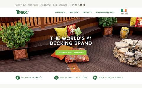 Screenshot of Contact Page trex.com - Wood Alternative Deck, Railing, Lighting and Furniture - Trex - captured March 25, 2016
