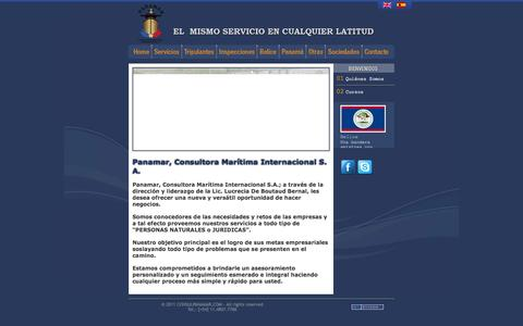 Screenshot of Home Page consulpanamar.com - .::.::. CONSULPANAMAR [ V.2011 ] .::.::. Consultora Marítima Internacional S. A. - captured Oct. 1, 2014