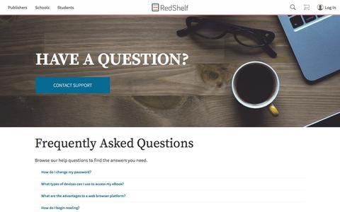 Screenshot of FAQ Page redshelf.com - RedShelf-FAQ RedShelf - captured May 9, 2017