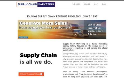 Screenshot of Home Page supplychainmarketing.com - Home - Supply Chain Marketing - captured Oct. 7, 2014