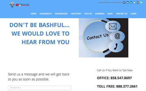 Screenshot of Contact Page emarketingsherpas.com - eMarketing Sherpas | Contact Us for Help With Your Marketing - captured Dec. 3, 2016