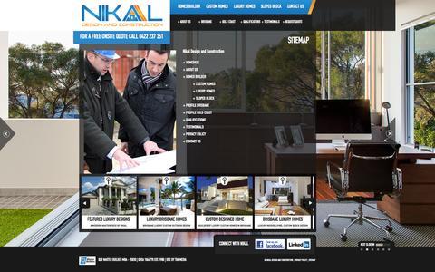 Screenshot of Site Map Page nikal.com.au - Sitemap | NIKAL - Design and Construction - captured Nov. 3, 2014
