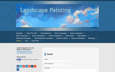 Screenshot of Contact Page landscapepainting.us - Contact - Landscape Painting by Judith DAgostino - captured Sept. 22, 2017