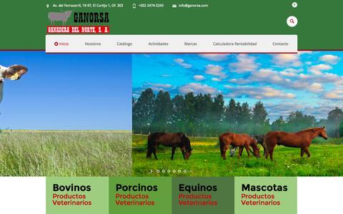 Screenshot of Home Page ganorsa.com - Inicio - Ganorsa - captured July 3, 2015