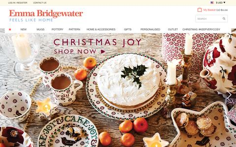 Screenshot of Home Page emmabridgewater.co.uk - Home at Emma Bridgewater - captured Oct. 24, 2015