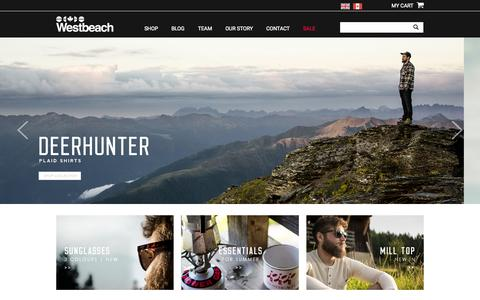 Screenshot of Home Page westbeach.com - Westbeach - captured Aug. 15, 2015