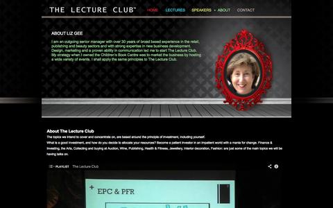 Screenshot of About Page Testimonials Page thelectureclub.com - ABOUT - THE LECTURE CLUB - captured Oct. 8, 2014