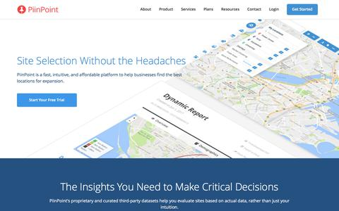 PiinPoint - Strategic Site Selection Software
