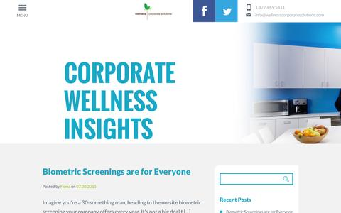 Blog - Wellness Corporate Solutions
