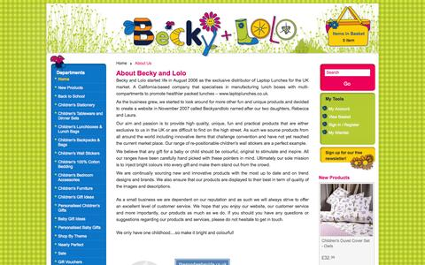 Screenshot of About Page beckyandlolo.co.uk - About  Us | Becky & Lolo - captured Sept. 19, 2014