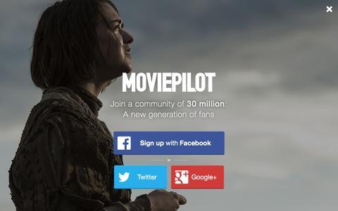 Screenshot of Login Page moviepilot.com - A New Generation of Fans | moviepilot.com - captured Jan. 11, 2016