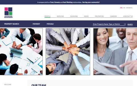 Screenshot of Team Page amana-properties.com - Amana Properties - Profile | Dammam, Saudi Arabia - Realestate For Sale, Rent, or Lease - captured Oct. 3, 2018