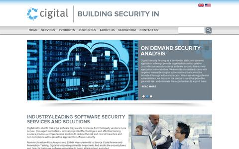 Screenshot of Home Page cigital.com - Leaders in Software Security and Application Security - Cigital - captured July 12, 2014