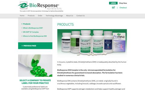 Screenshot of Products Page bioresponse.com - Pages Archive - BioResponse - captured Nov. 13, 2018
