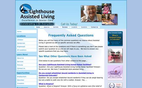 Screenshot of FAQ Page lighthouseassistedliving.com - Assisted Living Questions   Lighthouse Assisted Living - captured Dec. 15, 2018