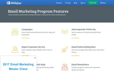 Email Marketing Services & Features | AWeber Email Marketing