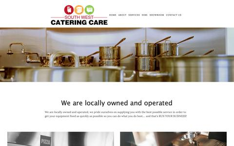 Screenshot of Home Page cateringcare.com.au - South West Catering Care - captured Oct. 18, 2018