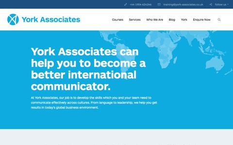 Screenshot of Home Page york-associates.co.uk - Welcome to York Associates   York Associates - captured Dec. 10, 2016