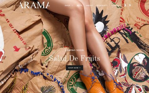 Screenshot of Home Page so-arama.com - Arama shoes - captured Feb. 5, 2016