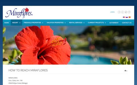 Screenshot of Maps & Directions Page miraflores.com - Directions - captured Dec. 1, 2016