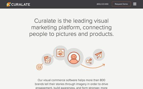 Screenshot of About Page curalate.com - Visual Commerce Software and Marketing Platform - Curalate - captured May 11, 2016