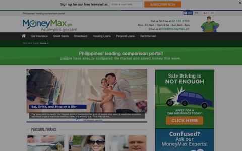 Screenshot of Blog moneymax.ph - Finance and Car Insurance Blog | MoneyMax.ph - captured Jan. 25, 2016