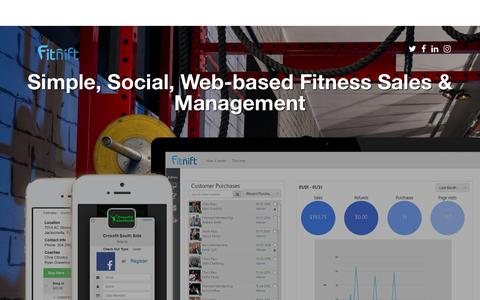 Screenshot of Signup Page fitnift.com - Fitnift | Fitness Sales & Management - captured June 27, 2016