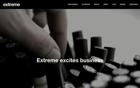 Screenshot of About Page extreme.fr - Extreme : Agence de communication intégrée n°1 des indépendants - captured Feb. 1, 2016