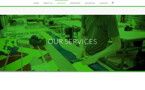 Screenshot of Services Page vehicleliverysolutions.co.uk - Vehicle Livery Services - Vehicle Livery Hull Yorkshire, Van Wraps, Car Vinyls, Vehicle Graphics, Chapter 8, Chevrons, Safety Signs - captured Dec. 19, 2016