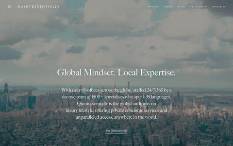 Screenshot of Contact Page quintessentially.com - Global Lifestyle Management & Concierge Services | Quintessentially - captured Sept. 23, 2018