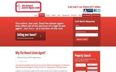 Screenshot of About Page thehonestestateagent.com - Why Use and Online Estate Agency | The Honest Estate Agent Manchester - captured Oct. 1, 2014