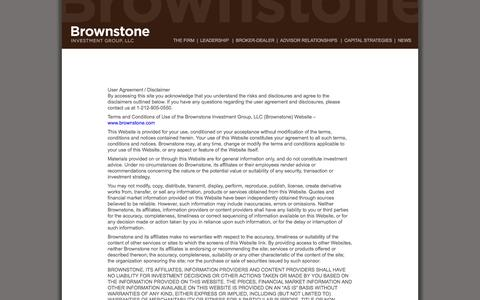 Screenshot of Terms Page brownstone.com - Terms of Use | Brownstone Investment Group, LLC.Brownstone Investment Group, LLC. - captured Oct. 5, 2014