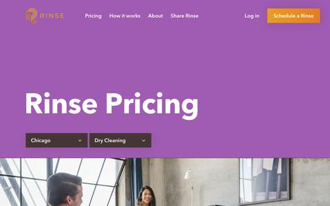 Screenshot of Pricing Page rinse.com - Rinse - Pricing - captured July 7, 2018