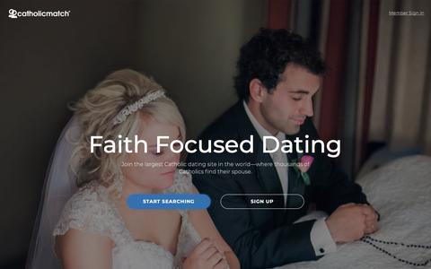 Screenshot of Home Page catholicmatch.com - Catholic Dating and Catholic Singles | CatholicMatch.com - captured March 19, 2018