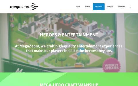Screenshot of About Page megazebra.com - About us – MegaZebra - captured July 3, 2016