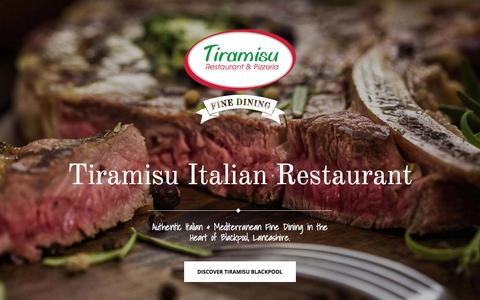 Screenshot of Home Page tiramisublackpool.co.uk - Tiramisu Italian Restaurant Blackpool - Fine Dining - captured Oct. 10, 2015