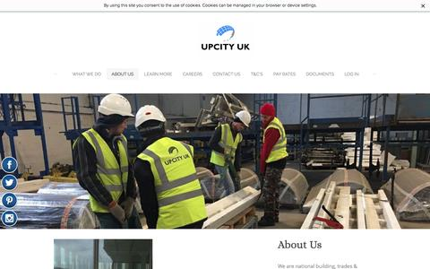 Screenshot of About Page upcity.co.uk - About US - UPCITY UK - captured Nov. 17, 2016