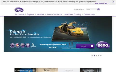 Screenshot of Home Page benq.es - BenQ España | BenQ España - captured Dec. 4, 2016