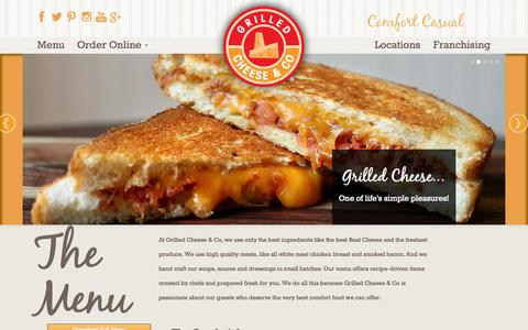Screenshot of Menu Page ilovegrilledcheese.com - Grilled Cheese & Co. - captured Oct. 3, 2014