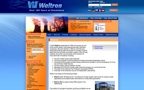 Screenshot of About Page waltron.net - Waltron - Corporate - captured Oct. 27, 2014