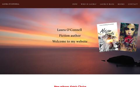 Screenshot of Home Page laura-oconnell.com - Laura O'Connell - captured Jan. 26, 2016