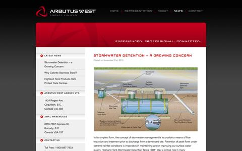Screenshot of Press Page arbutuswest.com - News   AWAL Arbutus West Agency Ltd. - captured Oct. 4, 2014