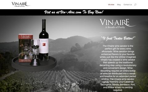 Screenshot of Home Page aeratewine.com - Aerate Wine | - captured Sept. 3, 2015