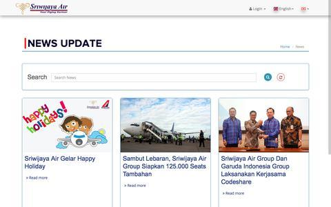 Screenshot of Press Page sriwijayaair.co.id - Sriwijaya Air - captured Sept. 21, 2018