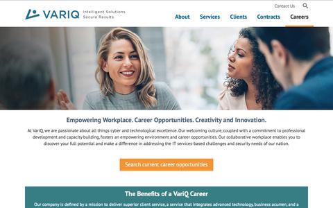 Screenshot of Jobs Page variq.com - Careers | VariQ - captured Nov. 19, 2018
